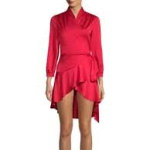 NEW RED WRAP DRESS COCKTAIL